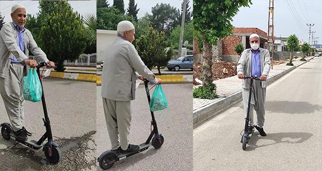 69 Yaşındaki dedenin scooter keyfi