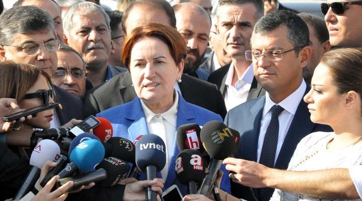 Akşener'in 'başbakanlık' açıklamasına CHP'den olumlu karşılık