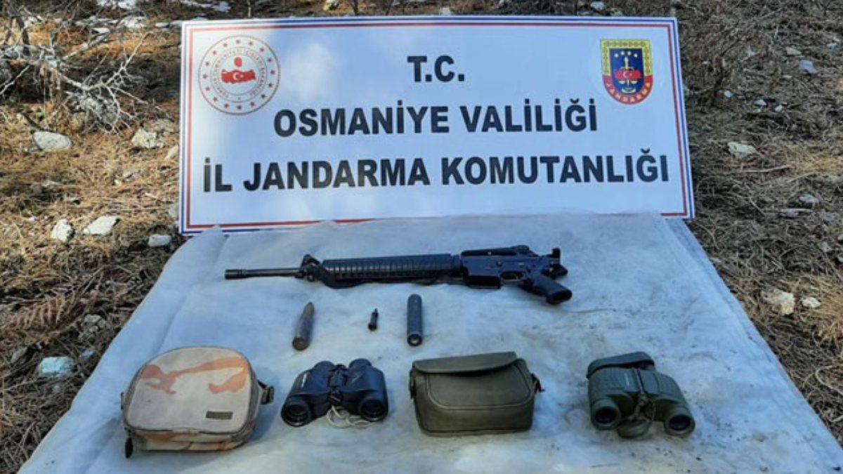 Amanoslarda PKK'ya ait sığınak ele geçirildi