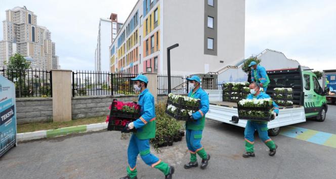 Başakşehir'de atıklar rengârenk çiçek açıyor
