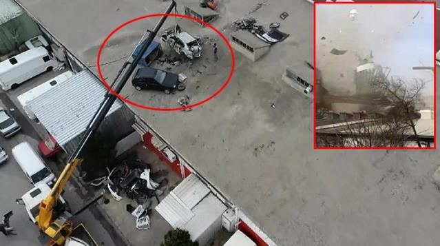 Bursa'da hortum ortalığı savaş alanına çevirdi! Bazı araçlar çatıya uçtu