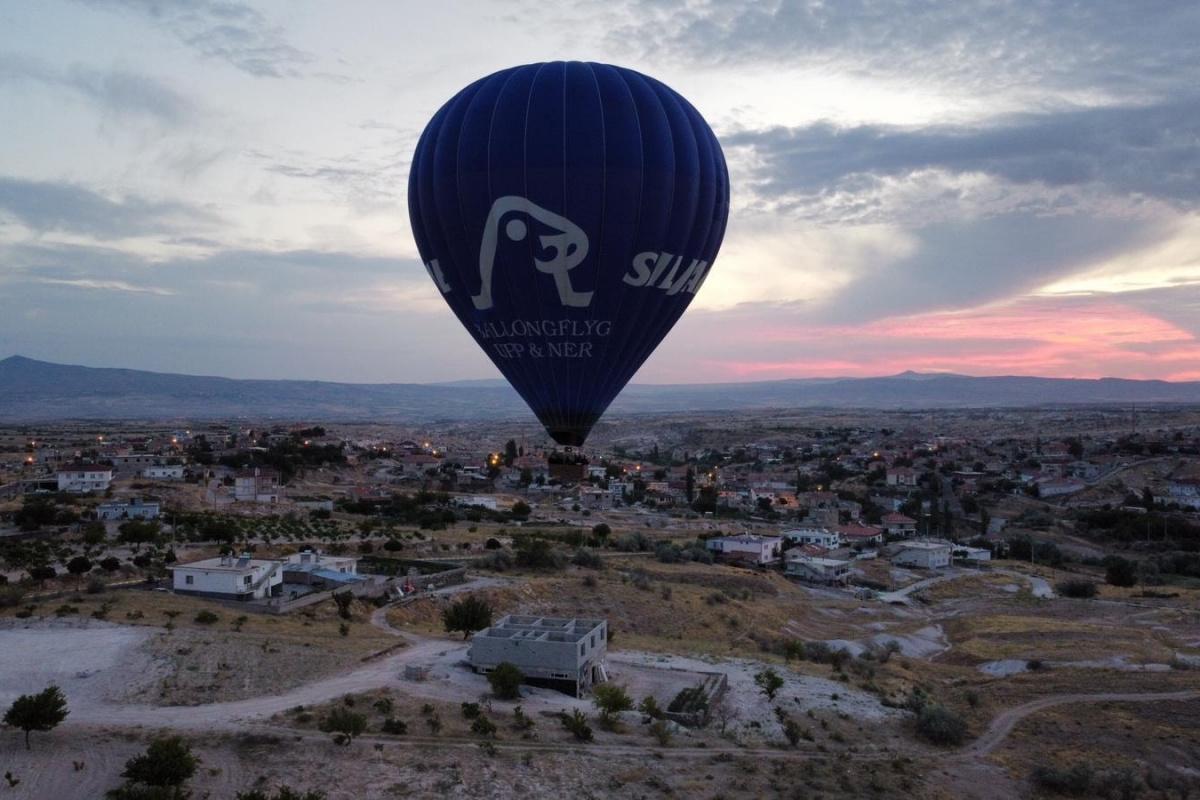 Çat kasabasında bu sabah ilk balon turu yapıldı