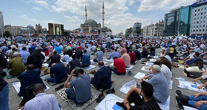 Cumhurbaşkanı Erdoğan'dan Taksim Camii'nde önemli açıklamalar
