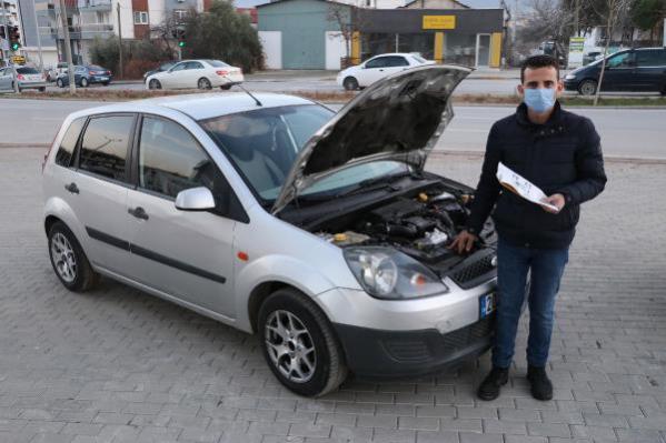 Ekspertize güvenip aldığı otomobilin yarısının kaynakla eklendiğini tamircide öğrendi