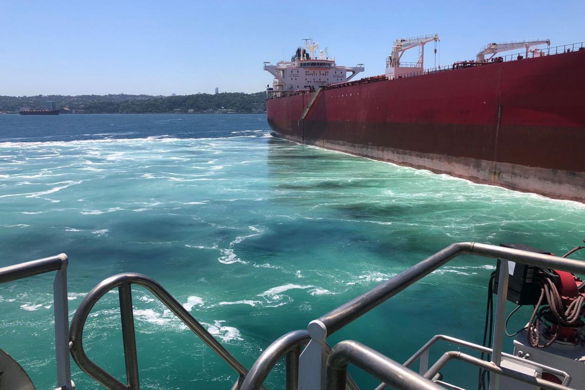 İstanbul Boğazı'nda tanker arızası