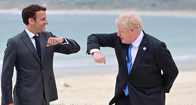 Johnson ile Macron'dan G7 görüşmesi