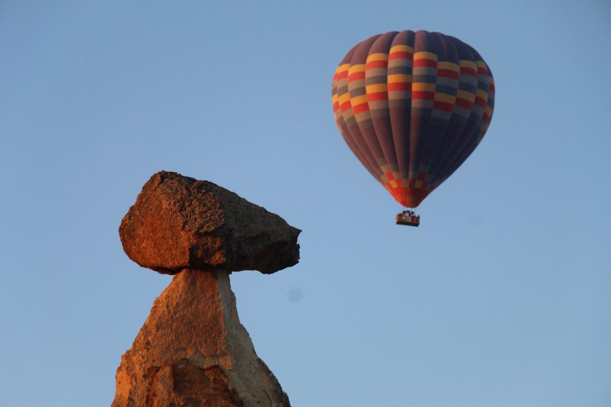 Kapadokya'da balon turları iptal edildi