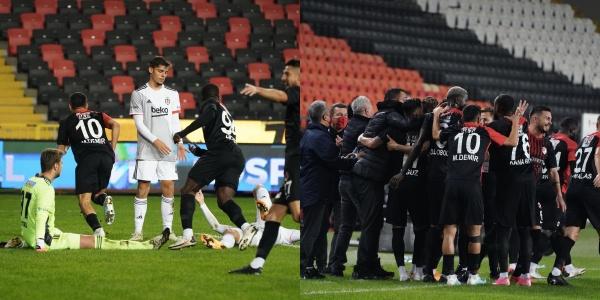 Kartal Ağır Yaralı! Beşiktaş'ın 10 Kişi Tamamladığı Maçta Gaziantep FK 3 Puanı 3 Golle Aldı