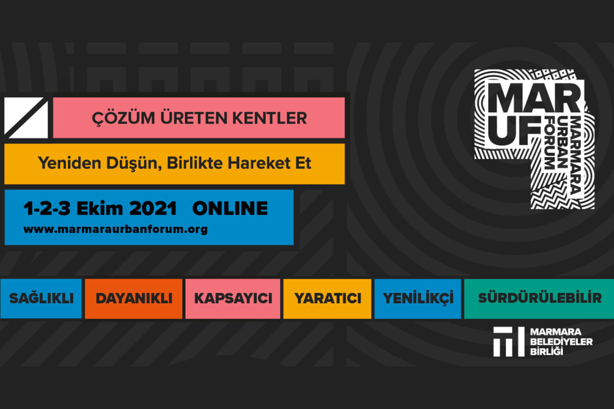 Kentlerin bugünü ve geleceği Marmara Urban Forum'da konuşulacak