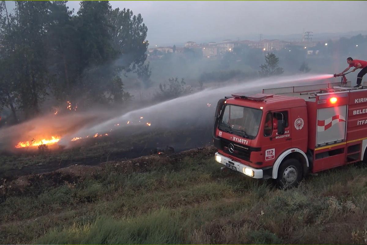 Kırıkkale'de MKE arazinde yangın