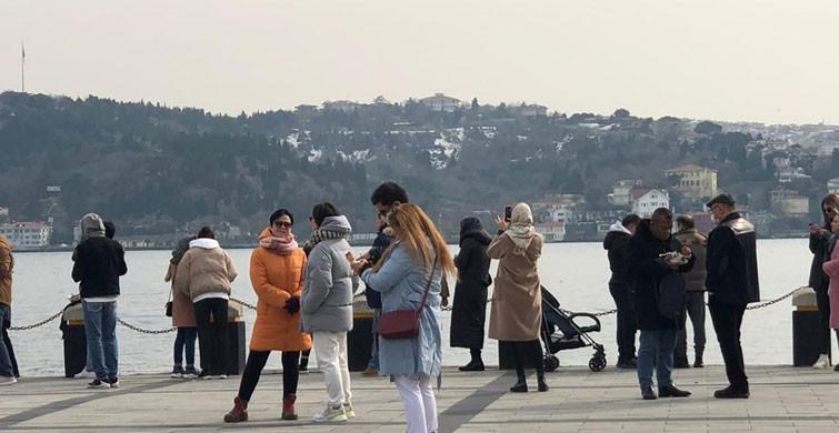 Kısıtlamalara Rağmen Ortaköy'de Dikkat Çeken Kalab...