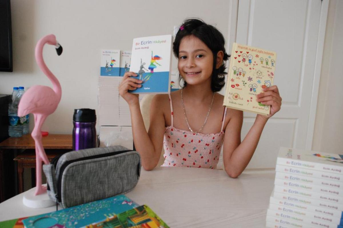 Küçük Ecrin kanseri yendi, günlüğü kitap oldu