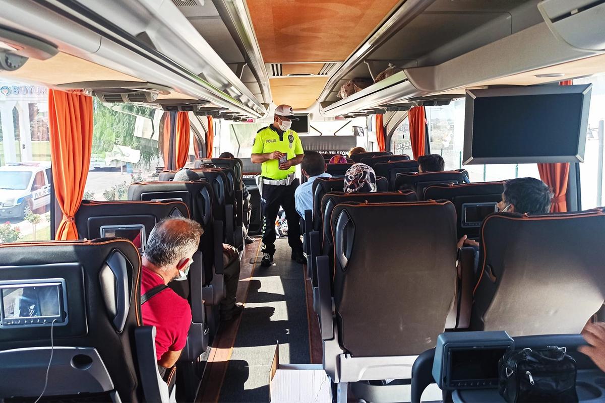 Malatya'da yolculara korona virüs uyarısı