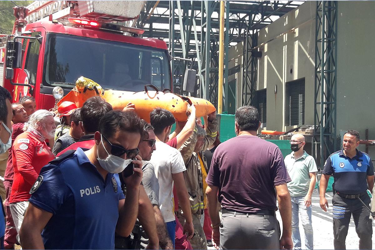 Marmaris'teki yangında, bir orman işçisi hayatını kaybetti