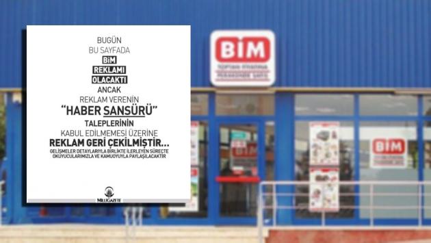 Milli Gazete BİM'in sansürletmek istediği 'Ucuz ette hileli satış' haberini verdi