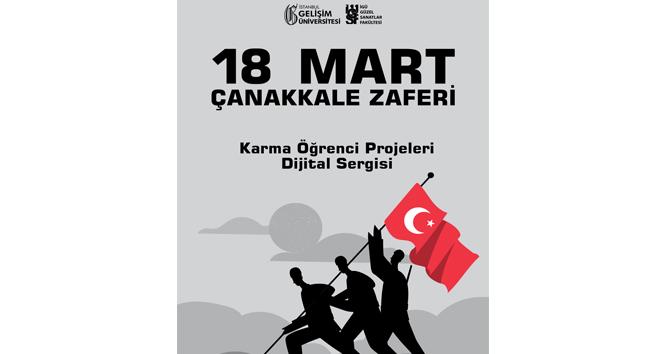 Öğrenciler karma sergiyle 18 Mart'ı anıyor