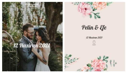 Online Düğün Davetiyelerinde Tarz Seçenekler