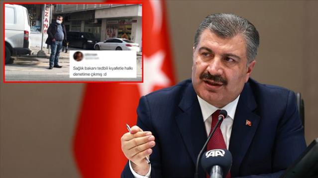Sağlık Bakanı Fahrettin Koca'ya benzeyen vatandaş sosyal medyada gündem oldu! Espriler havada uçuşuyor