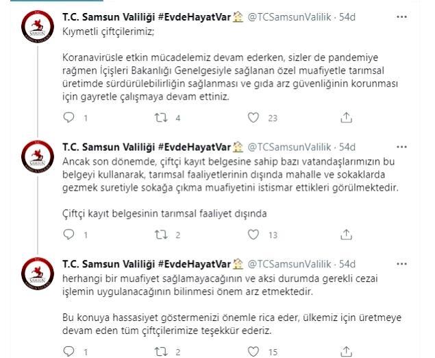 Samsun Valiliği: