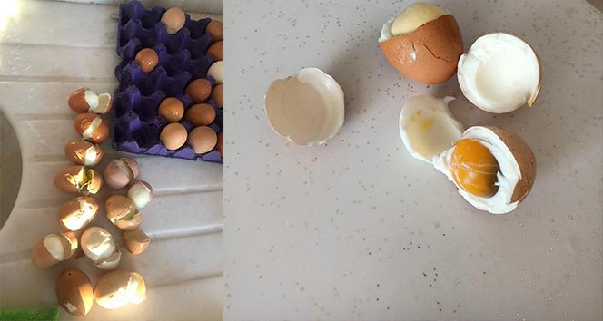Sattığı yumurtalar haşlanmış çıktı