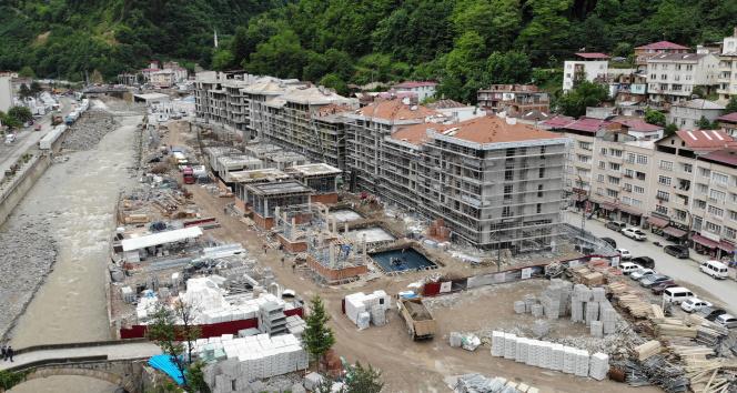 Selin yaralarının sarıldığı Dereli'de afet konutlarının inşasında önce güvenlik, sonra estetiğe önem veriliyor
