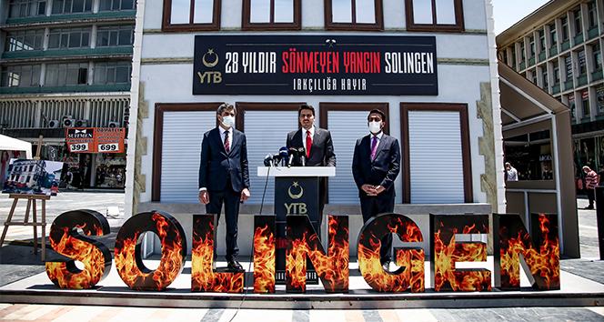Solingen Faciası'nın 28. yıl dönümünde hayatlarını kaybeden 5 Türk vatandaşı için anma töreni düzenlendi