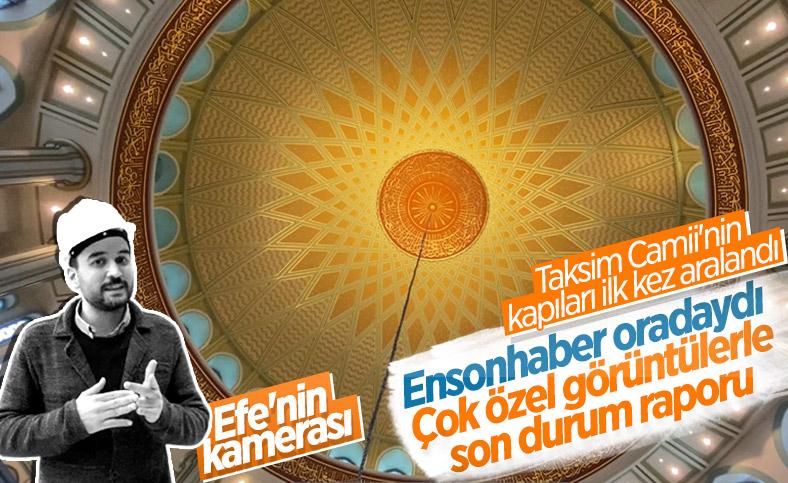 Taksim Camii'nin içi ilk kez görüntülendi