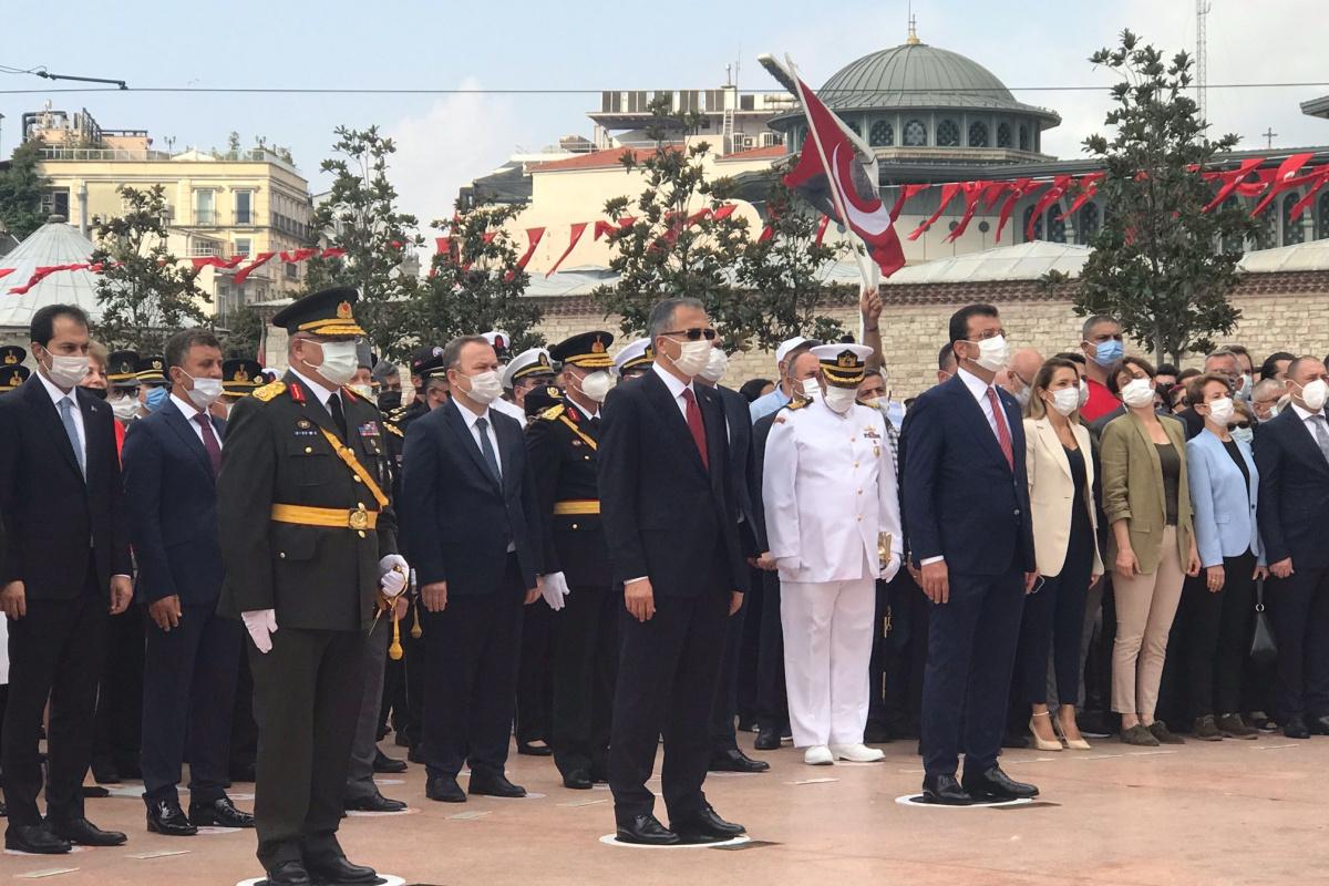 Taksim Meydanı'nda 30 Ağustos Zafer Bayramı töreni düzenlendi