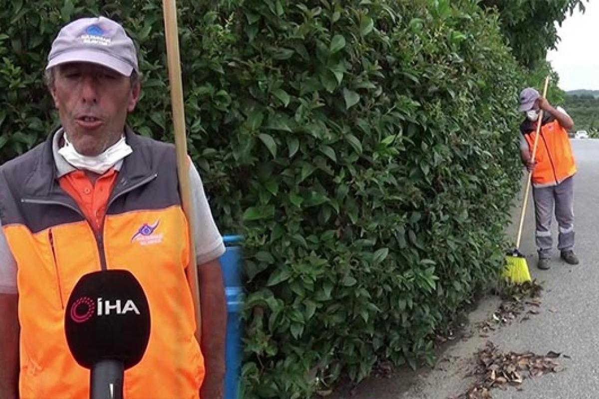 Temizlik görevlisi bulduğu 5 bin lirayı sahibine teslim etti
