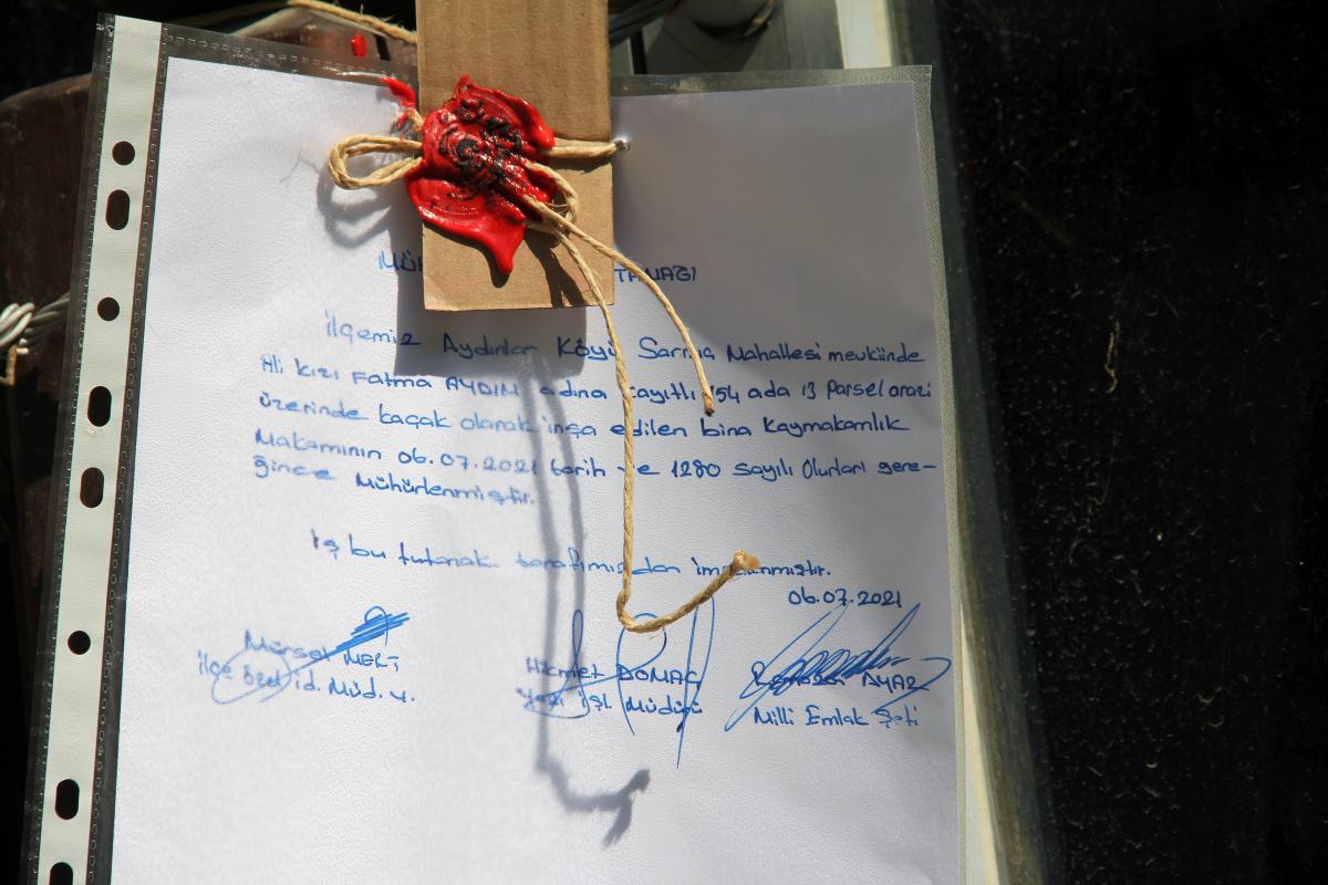 'Tosuncuk' lakaplı Mehmet Aydın'ın Giresun'daki kaçak villası mühürlendi
