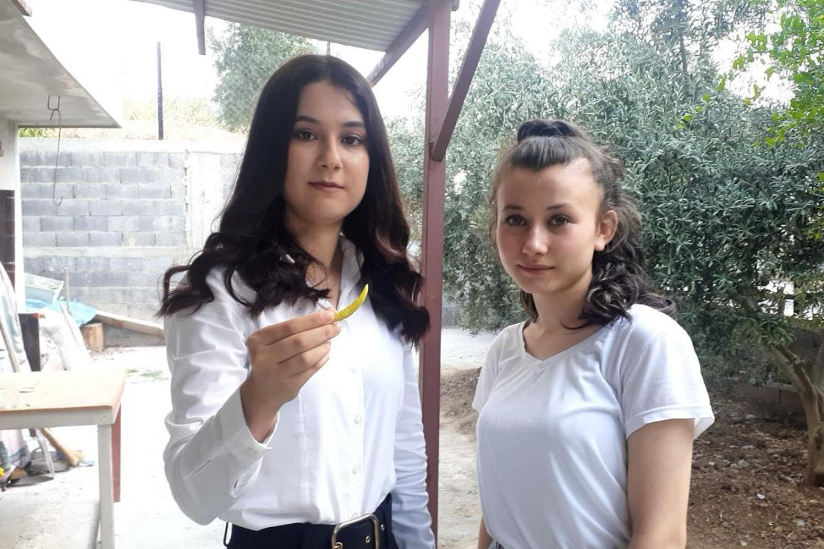 Üniversiteli genç kız, kekik aromalı acı biber yetiştirdi