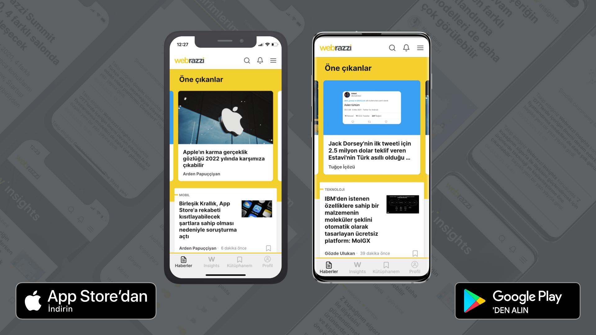 Webrazzi'nin iOS ve Android mobil uygulamaları güncellendi