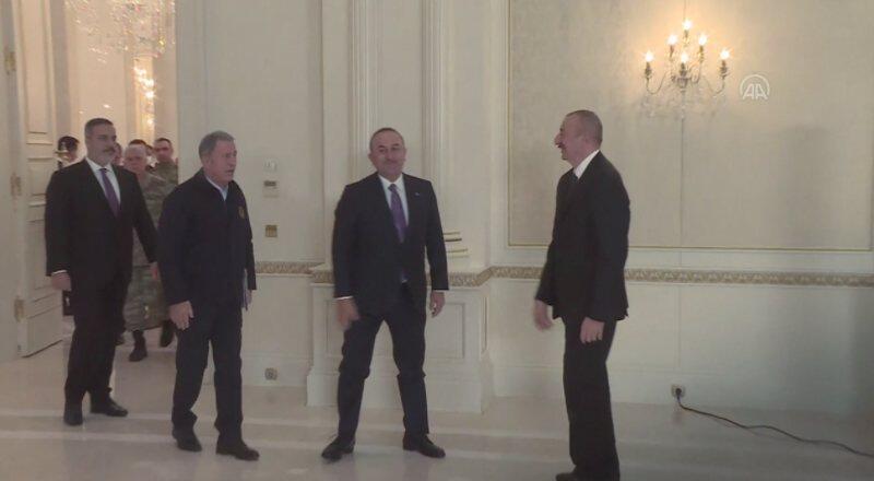 Akar, Çavuşoğlu ve Fidan Aliyev'i ziyaret etti | Video