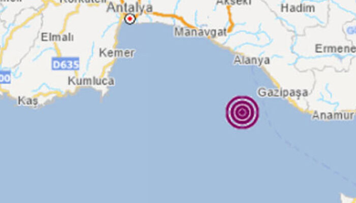 Akdeniz'de deprem (AFAD-Kandilli depremler)