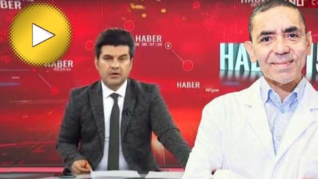Akit TV spikeri, Prof. Dr. Uğur Şahin'in Türkçesini beğenmedi!