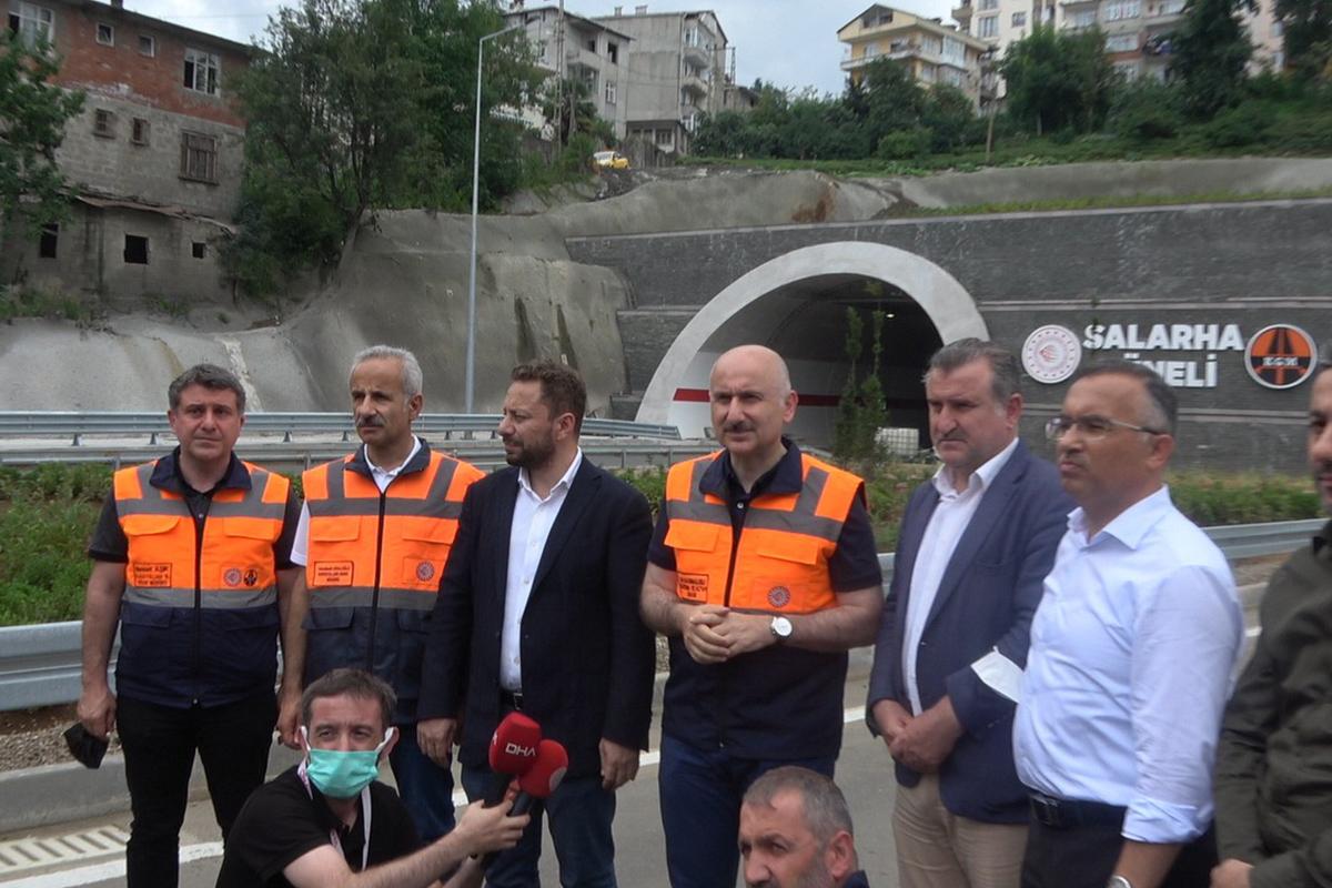Bakan Karaismailoğlu: 'İkizdere Tüneli ile Salarha Tüneli'nin açılışını Cumhurbaşkanımızın katılımıyla açacağız'