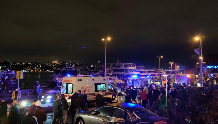 Beşiktaş'ta feci kaza! Cadde savaş alanına döndü