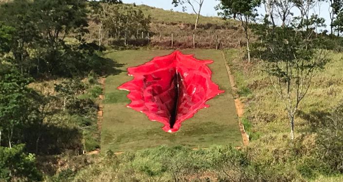 Brezilya'daki 33 metrelik vajina heykeli aşırı sağın tepkisini çekiyor