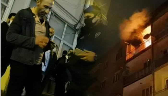 Bursa'da yanan evini endişe içinde izleyen kişiye maske ihlali cezası