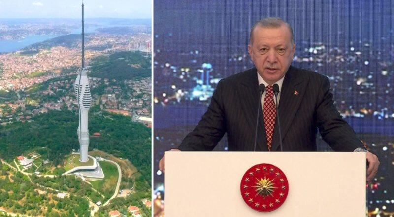 Çamlıca Kulesi açıldı... Cumhurbaşkanı Erdoğan'dan Kanal İstanbul açıklaması