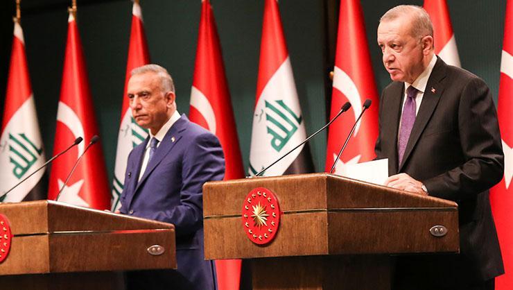 Cumhurbaşkanı Erdoğan, Irak Başbakanı Kazımi ile ortak basın...