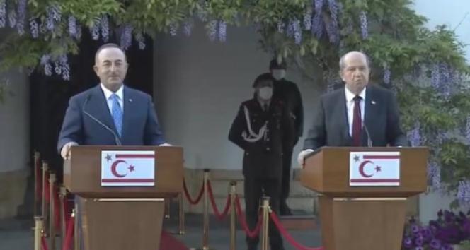 Dışişleri Bakanı Mevlüt Çavuşoğlu ve Ersin Tatar'dan Yunan Bakan'a tepki: 'Çizmeyi aşmıştı'