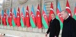 Erdoğan ve Aliyev önderliğinde anlaşmalar için imza töreni düzenleniyor