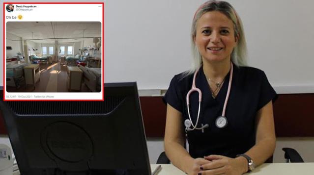 Fotoğrafa beğeni ve yorum yağdı! Yoğun bakım doktoru boş odayı