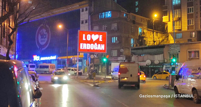Gaziosmanpaşa Belediyesi'nden 'Stop Erdoğan'a cevap: 'Love Erdoğan'