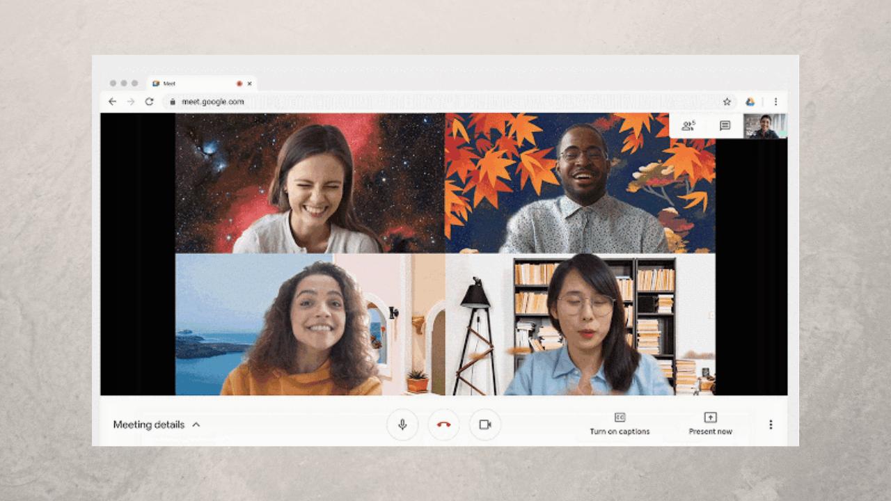Google Meet'e Zoom benzeri arkaplan görselleri geldi