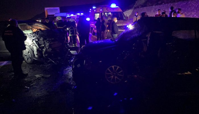 Hatay'da feci kaza: 2 ölü, 2 yaralı