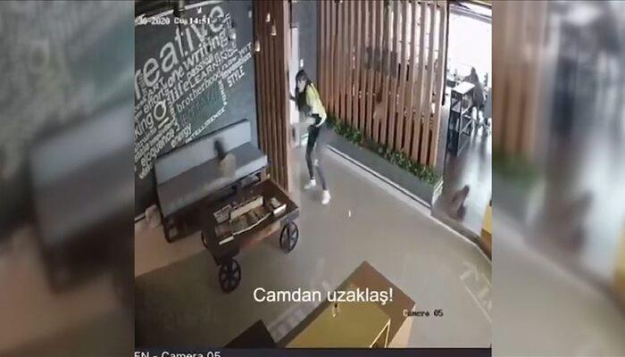 İzmir depreminin şiddeti iş yerlerinin güvenlik kameralarına yansıdı