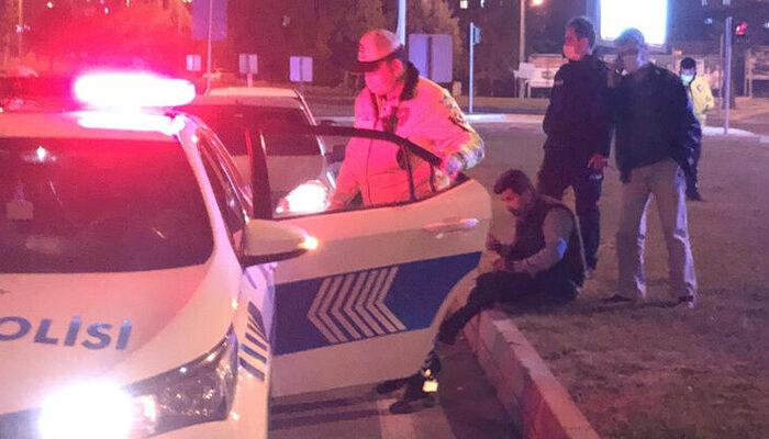 Kahramanmaraş'ta kısıtlamayı ihlal eden alkollü şahıs polisleri çileden çıkardı: Beni sabaha kadar dövün