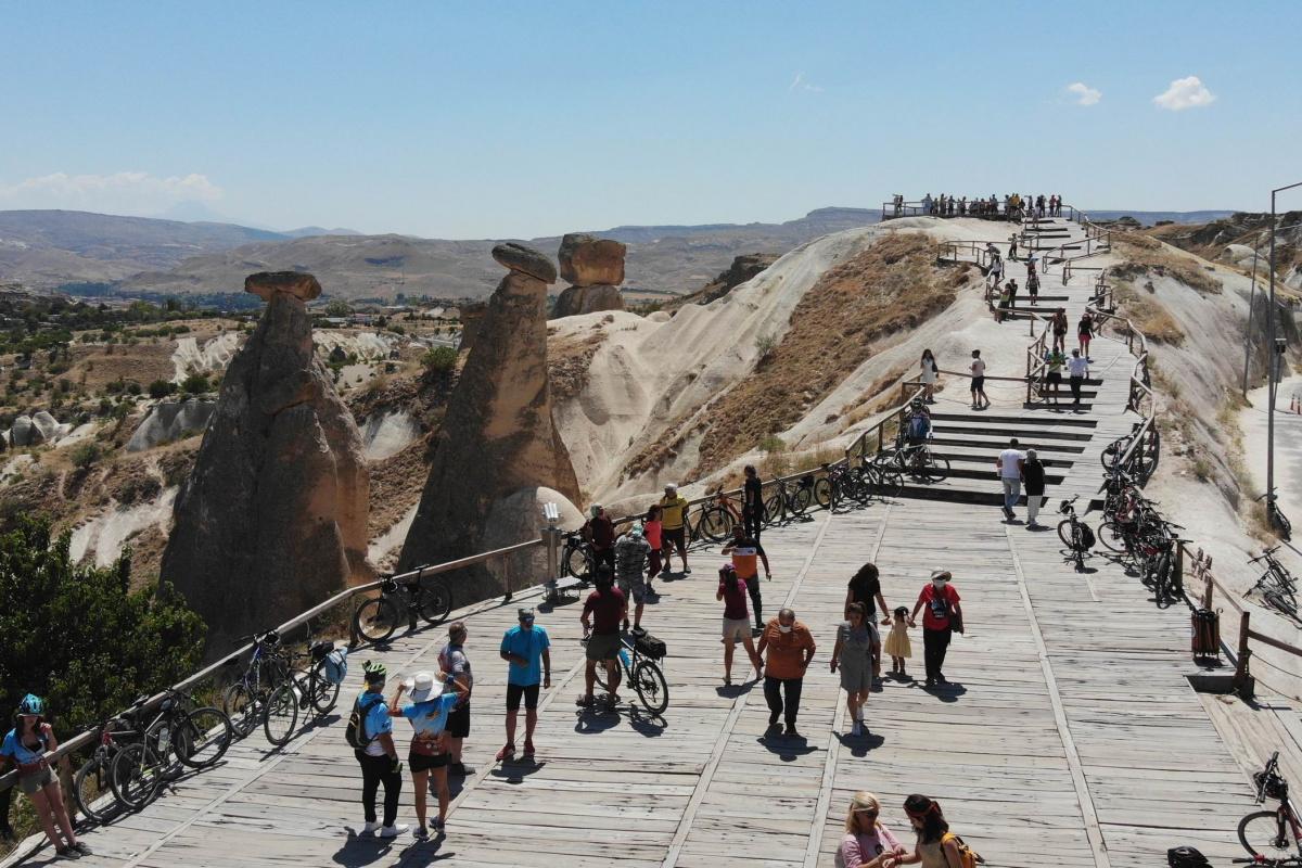 Kapadokya'da bayram öncesi yoğunluk yaşanıyor